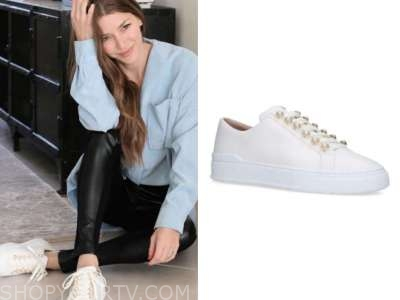 ashlee frazier, the bachelor, white pearl sneakers