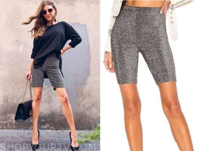 ashlee frazier, the bachelor, metallic biker shorts