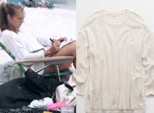 hannah brown, the bachelorette, white sweater