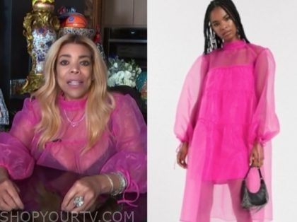 wendy williams, the wendy williams show, hot pink sheer dress