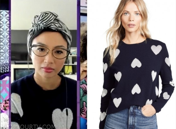 jeannie mai, heart sweater, the real