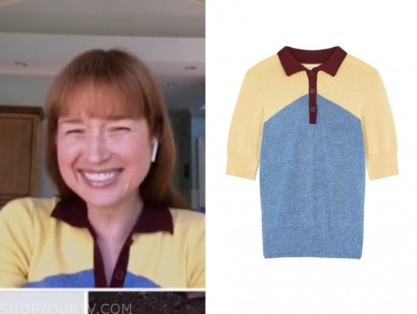 ellie kemper, the today show, colorblock knit polo