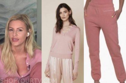morgan stewart, E! news: daily pop, pink sweater, pink sweatpants