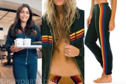 hannah ann sluss, the bachelor, rainbow stripe sweatpants and hoodie