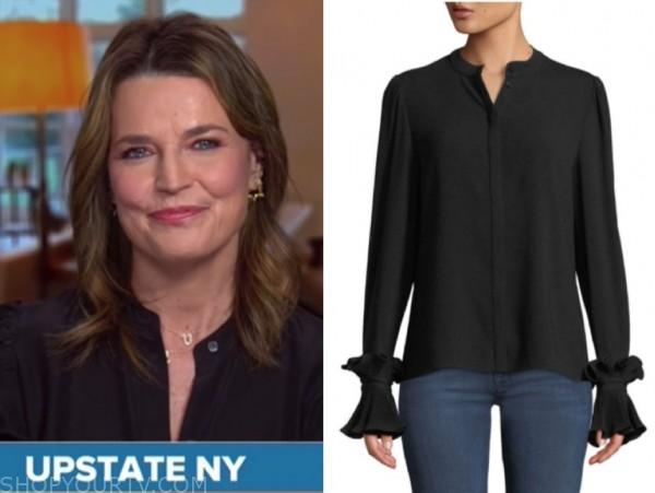 savannah guthrie, black blouse, the today show