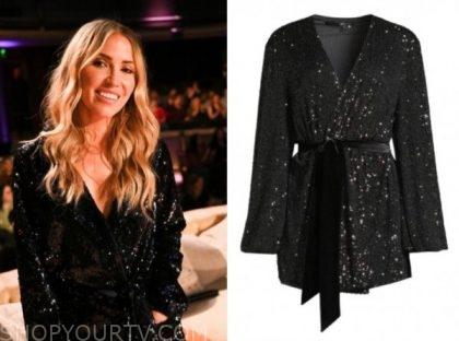 kaitlyn bristowe, listen to your heart, black sequin wrap dress