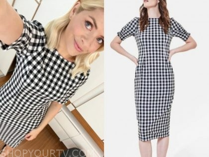 holly willoughby, this morning, gingham dress