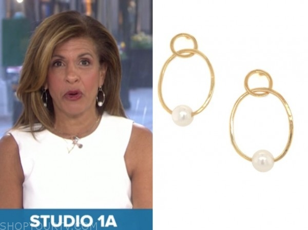hoda kotb, the today show, pearl hoop earrings