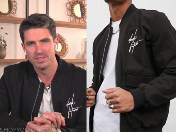 e! news, daily pop, scott tweedie, black bomer jacket