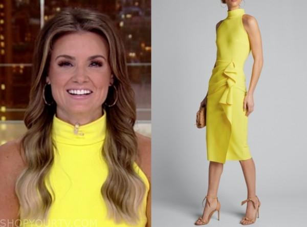 jillian mele, fox and friends, yellow mock neck dress