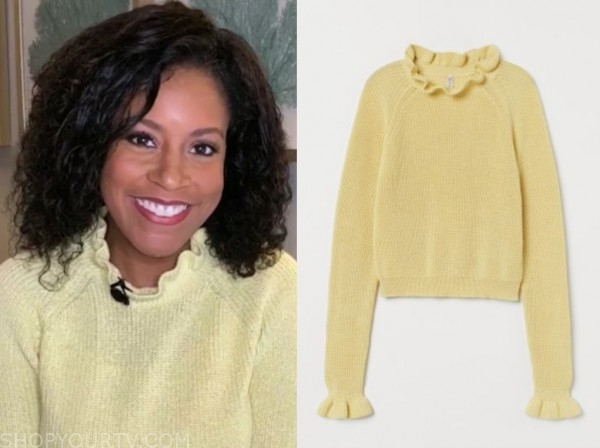 sheinelle jones, the today show, yellow ruffle sweater