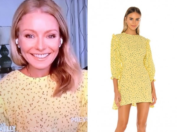 kelly ripa, live with kelly and ryan, yellow floral dress