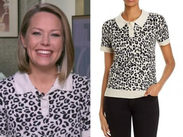 dylan dreyer, the today show, leopard knit polo top