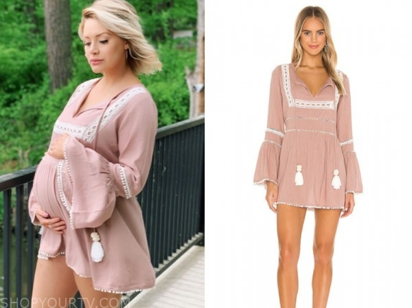 jenna cooper, the bachelor, pink tunic dress