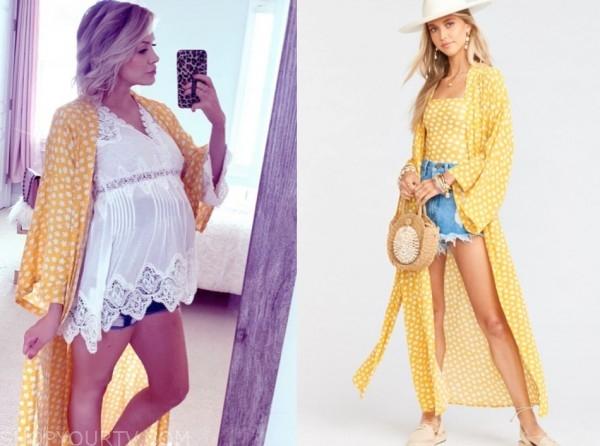 jenna cooper, the bachelor, yellow floral kimono