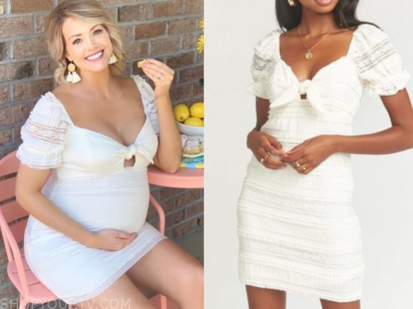 jenna cooper, the bachelor, white lace knot dress