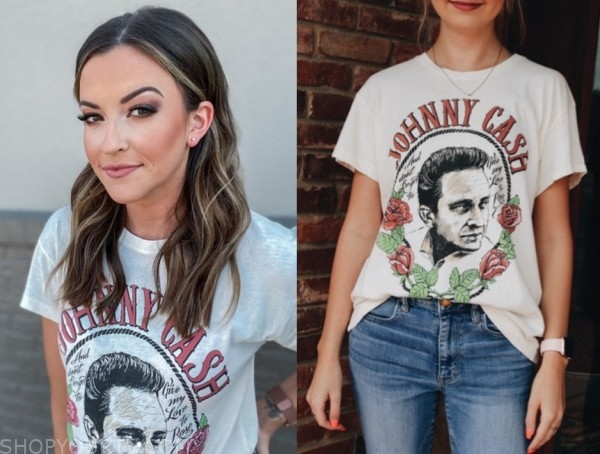 tia booth, the bachelor, johnny cash tee