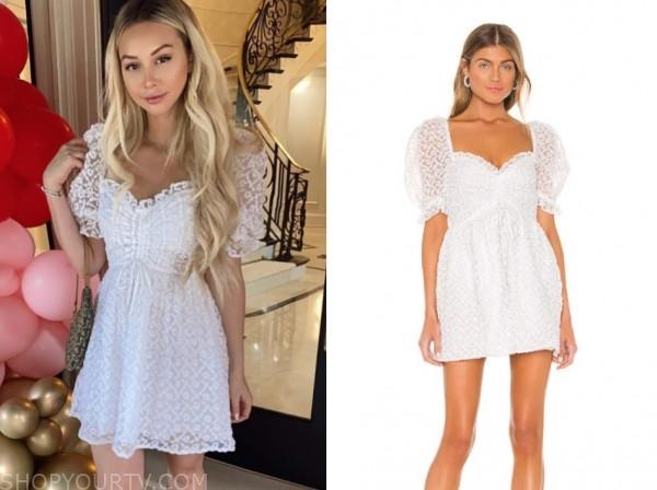 corrine olympios, white dress, the bachelor