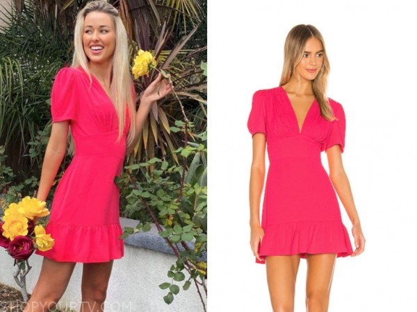 heather martin, the bachelor, pink dress