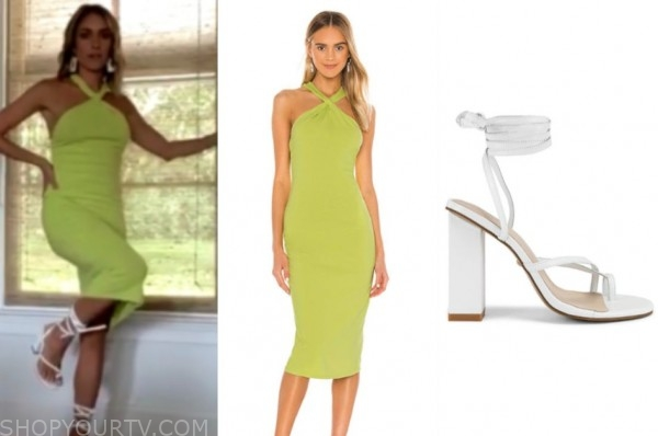 kristin cavallari, very cavallari, green dress, white sandals