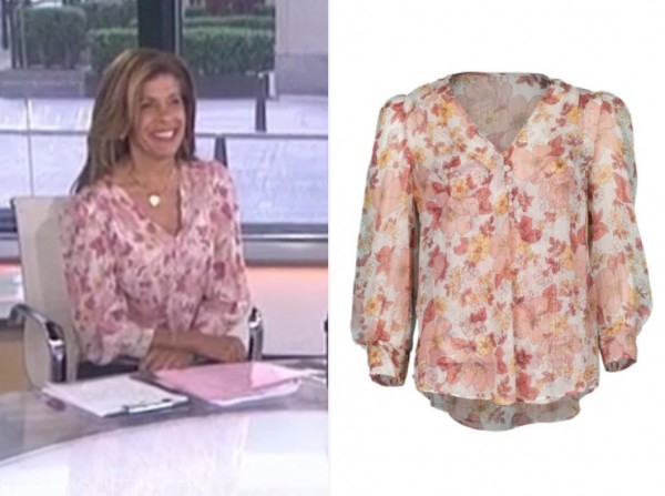 hoda kotb, the today show, pink floral blouse