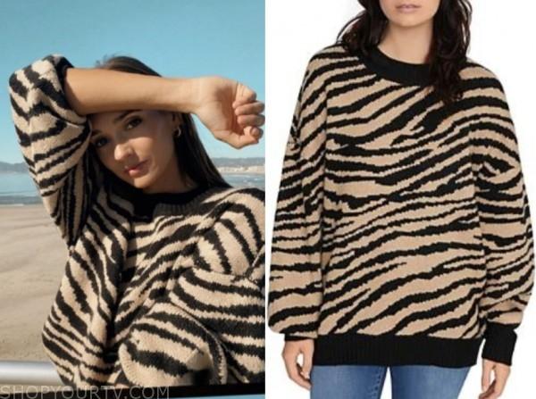whitney fransway, the bachelor, zebra print sweater