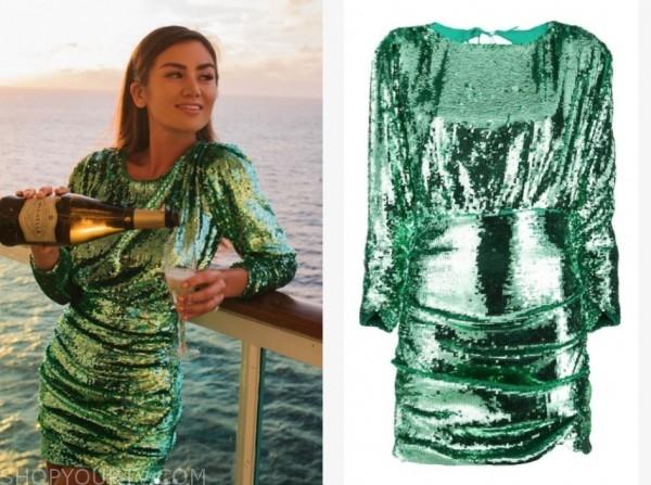 caila quinn, the bachelor, green sequin dress