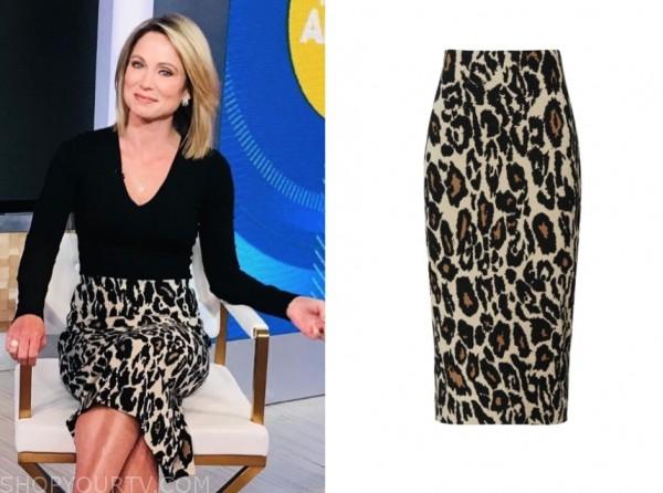 amy robach, good morning america, leopard skirt