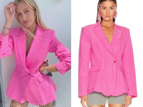morgan stewart, E! news, nightly pop, hot pink blazer