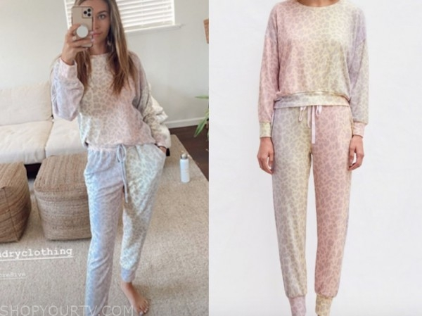 caelynn miller keyes, the bachelor, leopard rainbow sweater and sweatpants
