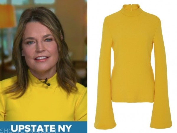 savannah guthrie, yellow turtleneck, the today show