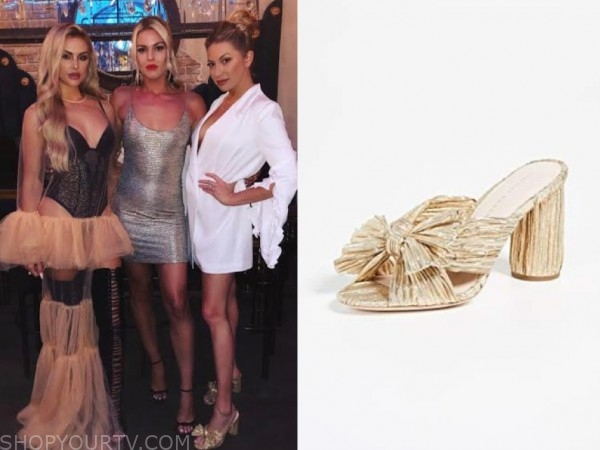 stassi schroeder, vanderpump rules, gold sandals