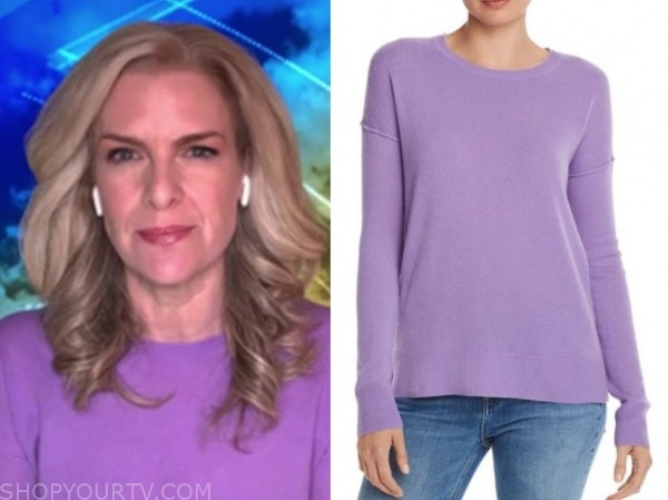 janice dean, fox and friends, purple sweater