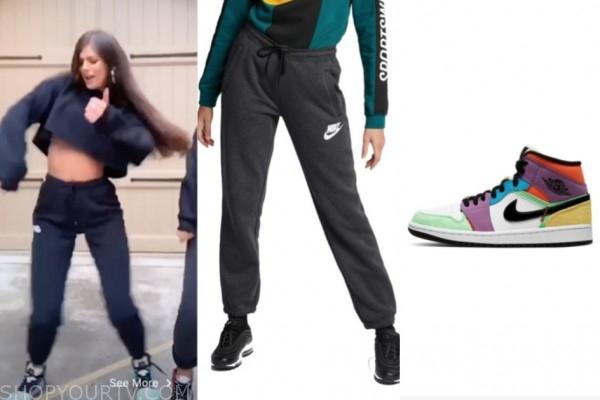 madison prewett, the bachelor, black sweatpants, multicolor high top sneakers