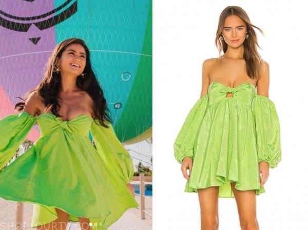 caila quinn, the bachelor, green strapless dress