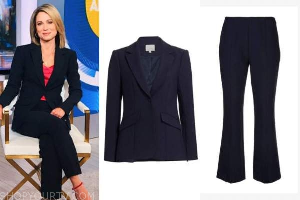 amy robach, good morning america, navy blue pant suit