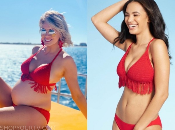 jenna cooper, red fringe bikini, the bachelor