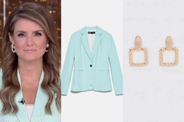 jillian mele, fox and friends, mint green blazer