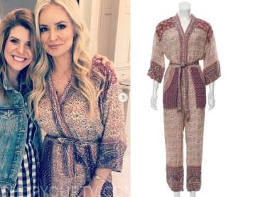 emily maynard, the bachelorette, floral jumpsuit