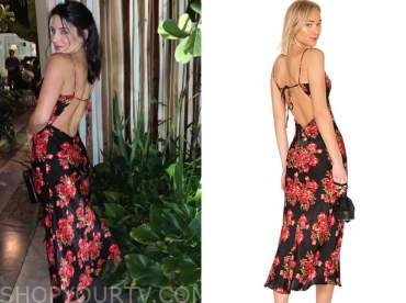 bibiana julian, the bachelor, black and red floral dress