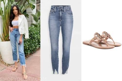 nicole lopez-alvar, the bachelor, cropped jeans, medallion sandals