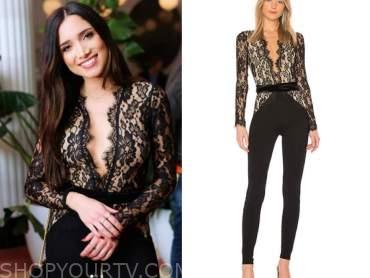 nicole lopez-alvar, the bachelor, black lace jumpsuit