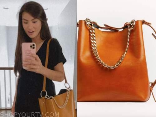 caila quinn, the bachelor, satchel chain bag