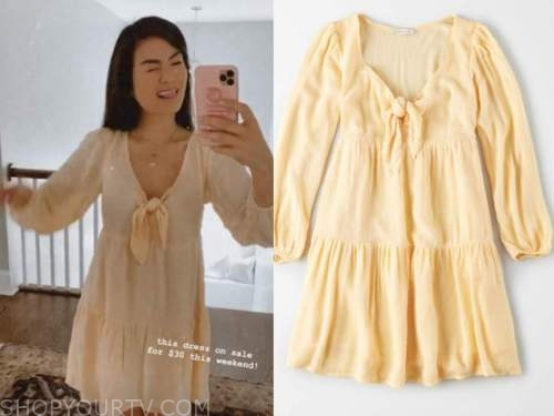 caila quinn, the bachelor, yellow dress