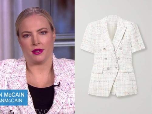 meghan mccain, the view, tweed jacket