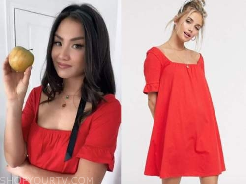 caila quinn, the bachelor, red dress