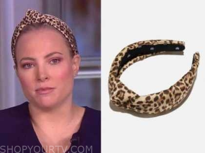 meghan mccain, the view, leopard silk knot headband
