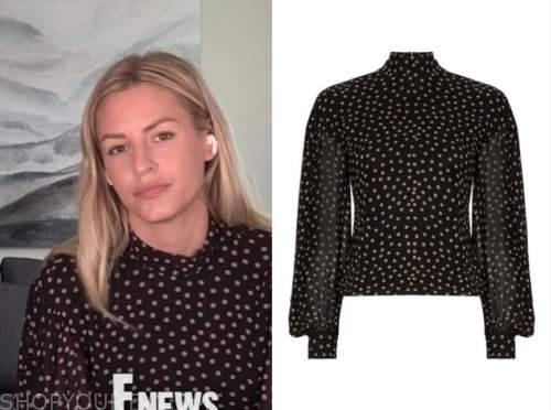 E! news, daily pop, morgan stewart, polka dot turtleneck