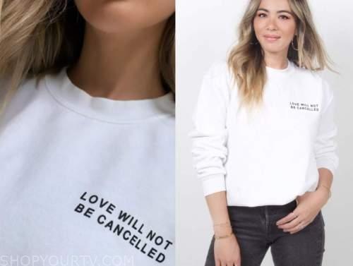 lauren Bushnell, white sweatshirt, the bachelor