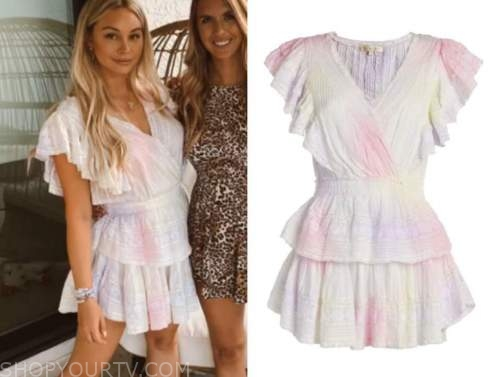 corinne olympios, the bachelor, tie dye dress